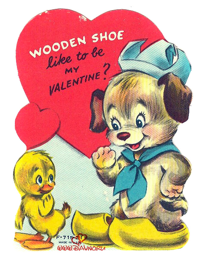 Wooden shoe like to be my valentine?