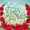 Happy Birthday - lettering