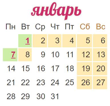 Как отдыхаем в январе 2019 года | официальные праздники, выходные изоражения